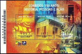 Brazil : 350 Years of History People and Action S/S MNH 2013