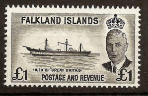 1952 Falkland Islands SS Great Britain Cricket Ship Carried First Ashes Tour