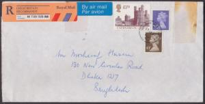 Great Britain GB Cover Registered Airmail To Bangladesh Pmk 1999 - Castle - Architecture