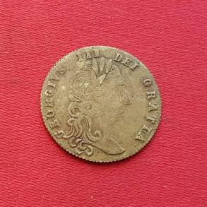 1788 Spade Half Guinea Gaming Token - George III, in Memory of The Good Old Days, Brass Dia 22mm